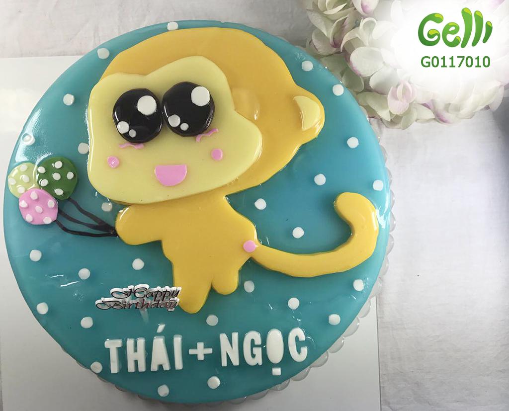 Rau câu 3D Gelli. Chiếc bánh sinh nhật ...