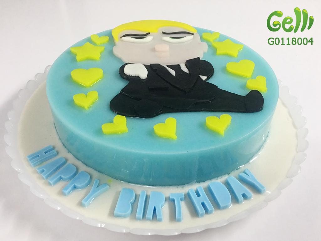 bánh sinh nhật rau câu cho bé trai