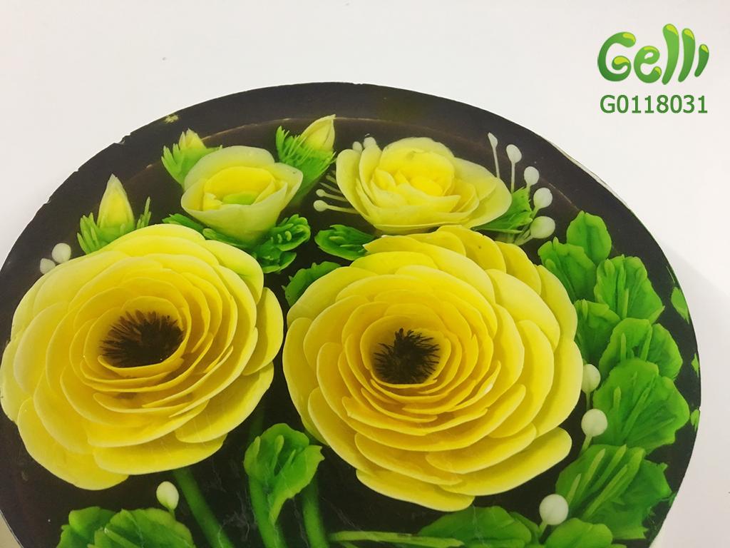 Bánh Sinh Nhật Rau Câu Hoa Hồng Vàng 2