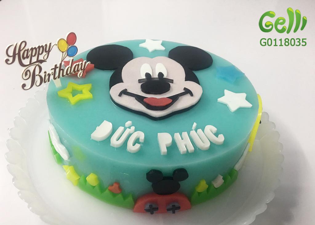 Bánh Sinh Nhật Rau Câu Chuột Mickey cho bé trai_2