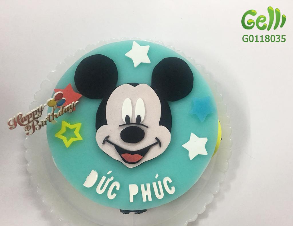 Bánh Sinh Nhật Rau Câu Chuột Mickey cho bé trai