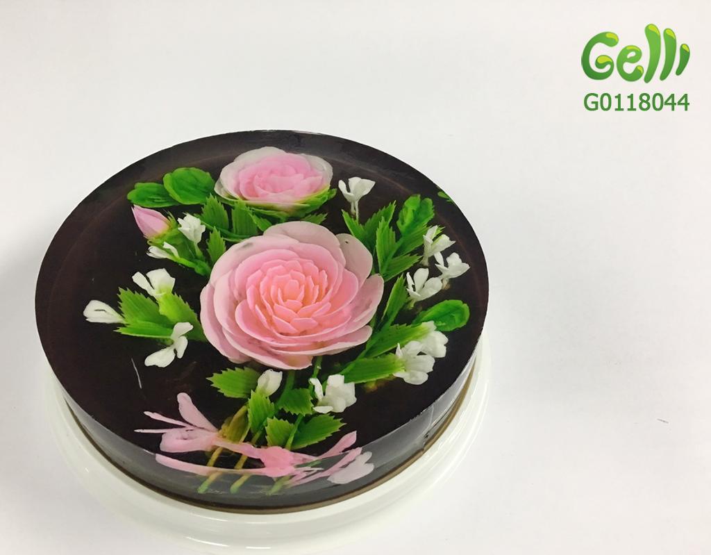 Bánh sinh nhật rau câu 3D hoa hồng_2