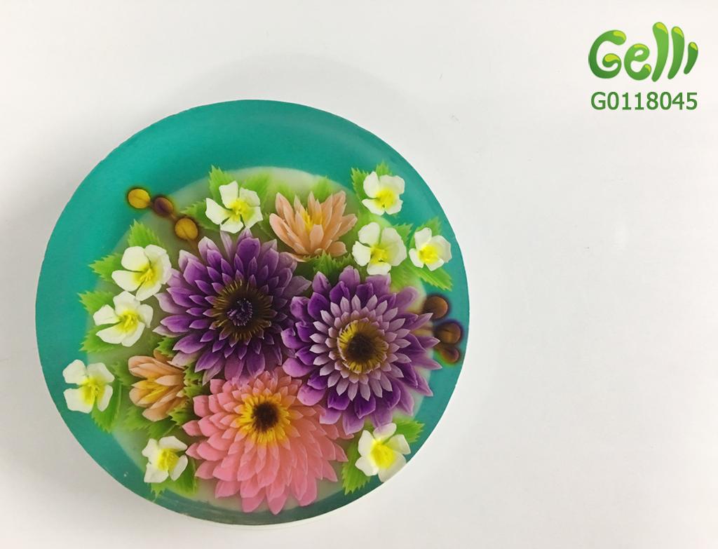 Bánh Sinh Nhật Rau Câu 3D mẫu hoa