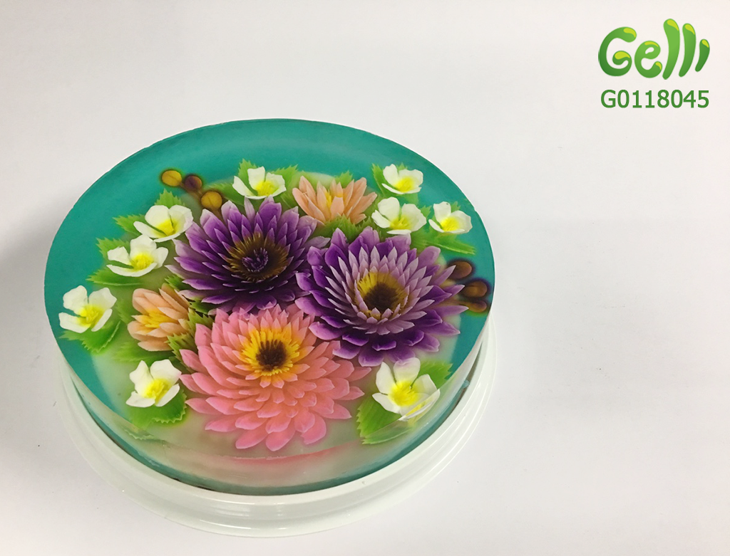 Bánh Kem Rau Câu 3D hình hoa