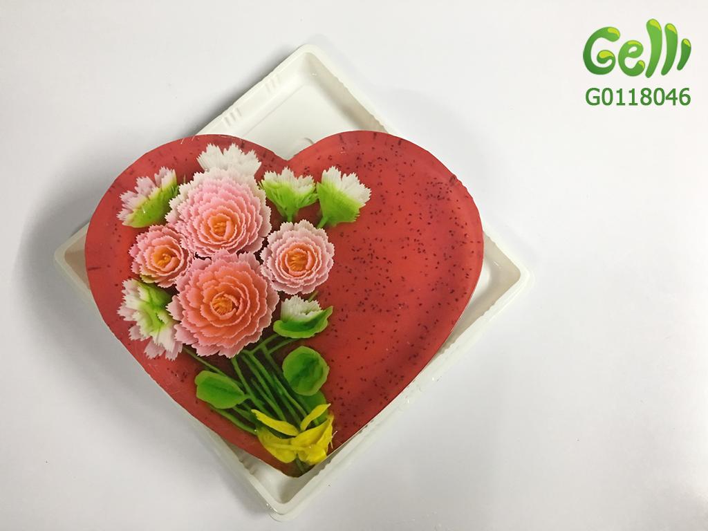 Bánh Sinh Nhật Rau Câu Trái Cây 3D Hoa