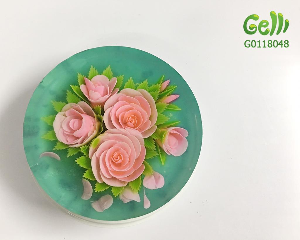 Bánh Sinh Nhật Rau Câu 3D Hoa Hồng