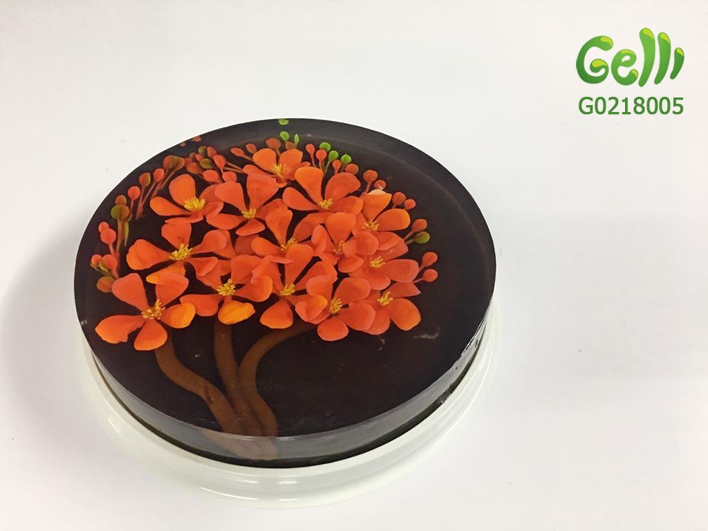 Bánh Sinh Nhật Rau Câu 3D Hoa Phượng Đỏ_1