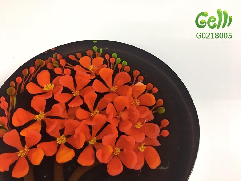 Bánh Sinh Nhật Rau Câu 3D Hoa Phượng Đỏ_2
