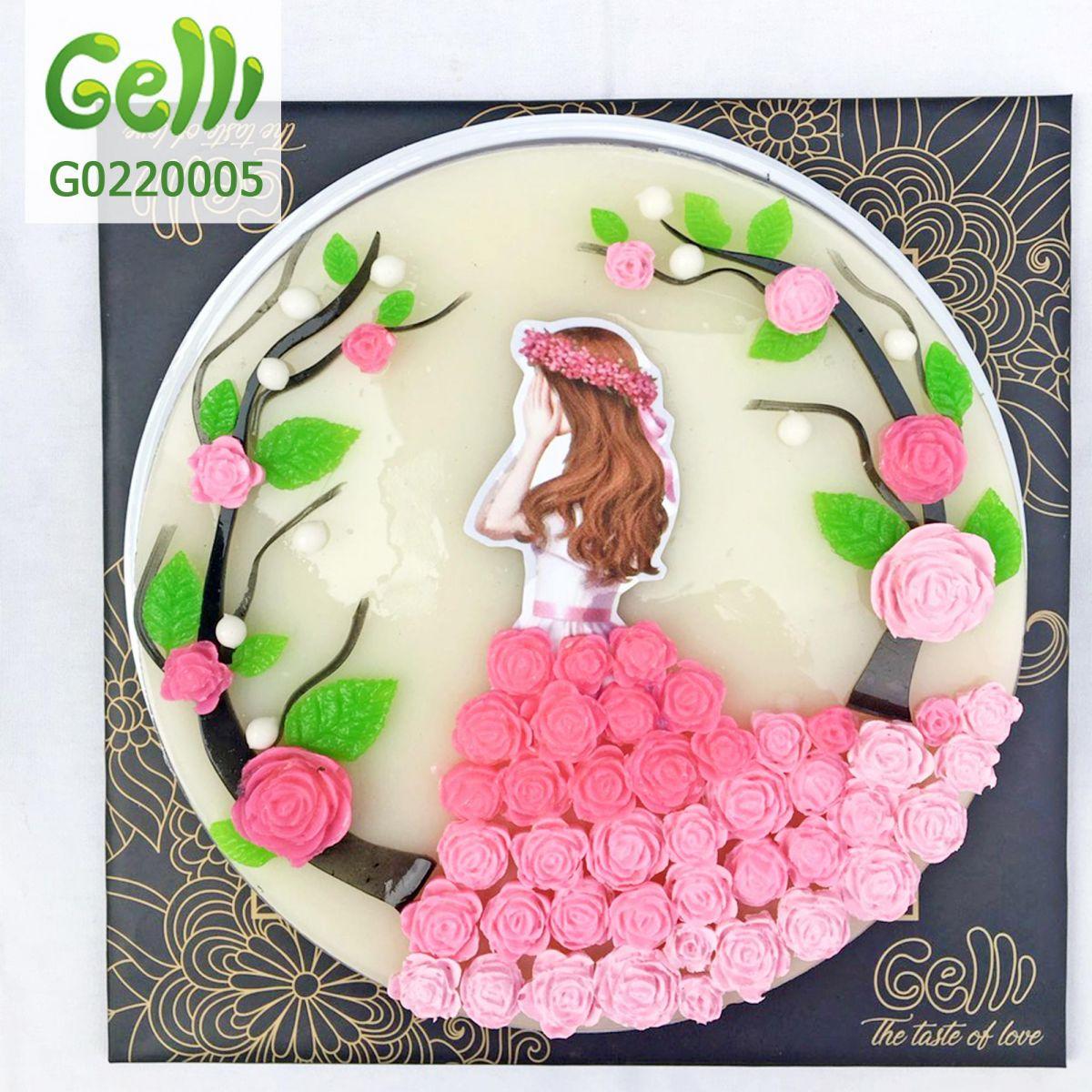 Bánh sinh nhật rau câu cho bé gái