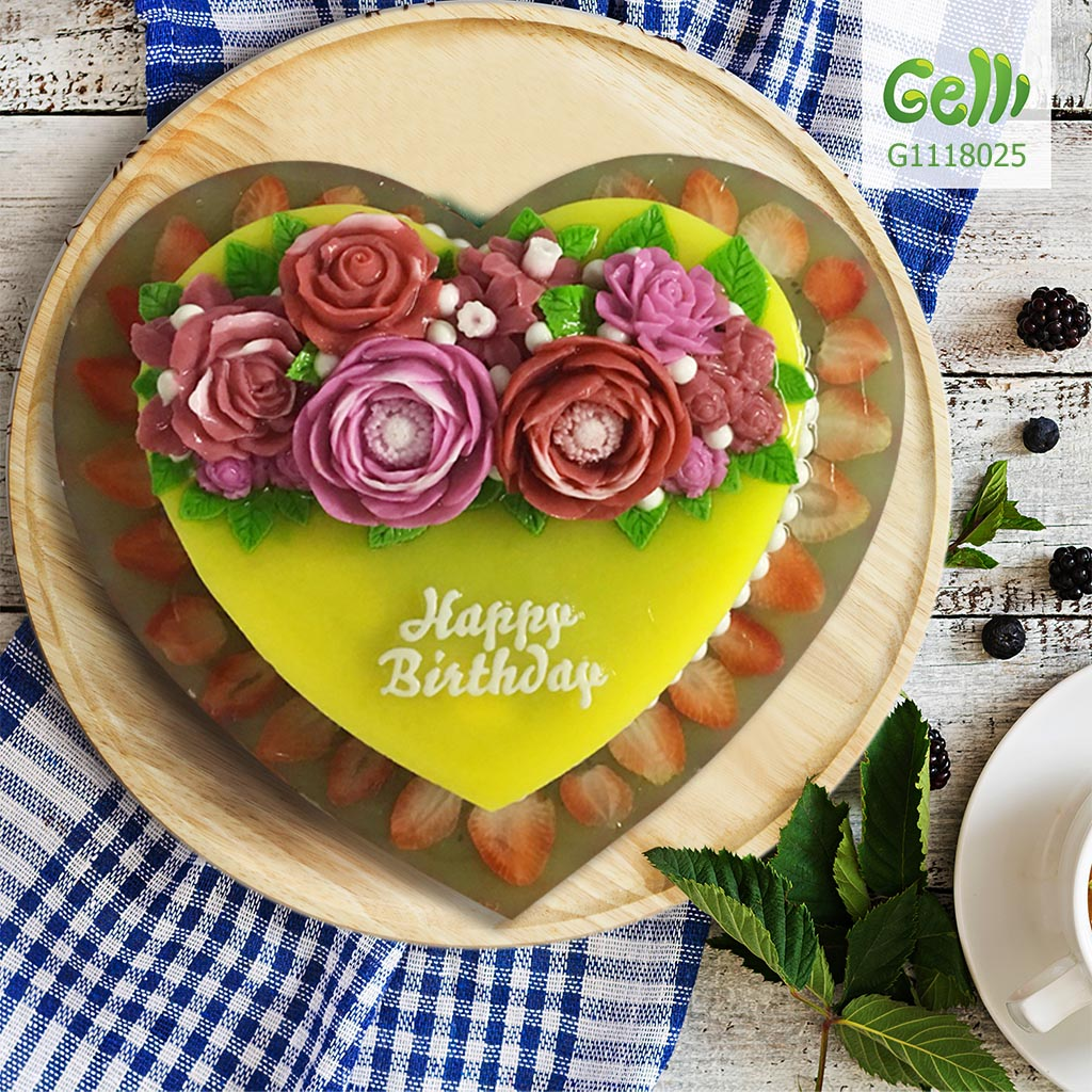 Bánh sinh nhật rau câu trái cây